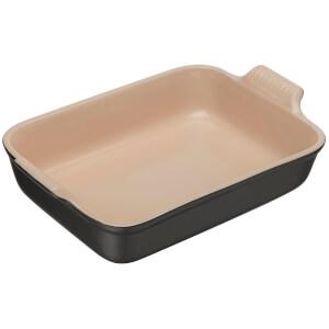 Le Creuset Stoneware Deep Rectangular Dish - 32cm - Satin Black
