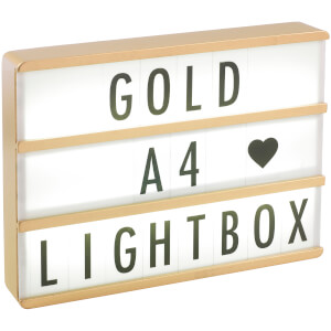 A4 Premium Wood Cinematic Lightbox - Gold