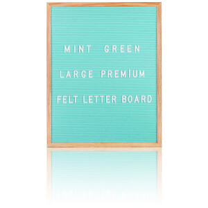 Large Premium Felt Letter Board - Mint Green