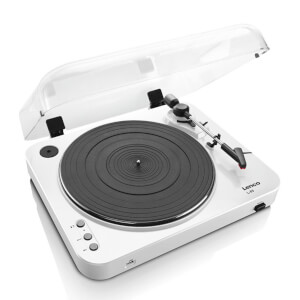 Lenco L-85 Turntable with USB Direct Recording - White