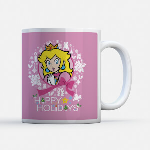 Nintendo Super Mario Peach Wreath Mug