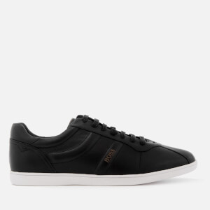 BOSS Orange Men's Rumba Leather Tennis Trainers - Black