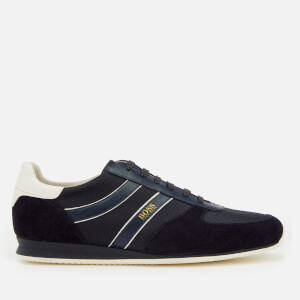 BOSS Orange Men's Orland Low Profile Trainers - Dark Blue
