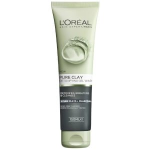 L'Oréal Paris Pure Clay Charcoal Detoxifying Gel Wash 150ml