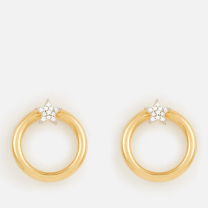Missoma Women's Mini Pave Star Front Facing Hoops - Gold