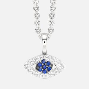 Missoma Women's Silver Evil Eye Necklace - Silver