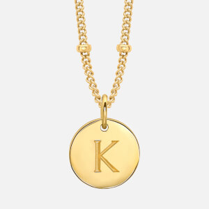 Missoma Women's Gold 'K' Initial Necklace - Gold