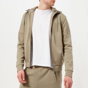 BOSS Green Men's Saggy Zipped Hoody - Khaki