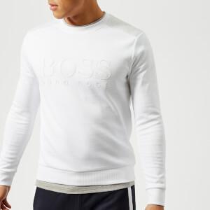 BOSS Green Men's Salbo Logo Sweatshirt - White