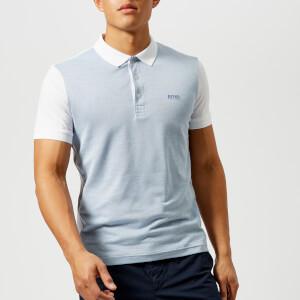 BOSS Green Men's Paddy 1 Contrast Sleeve Polo Shirt - White