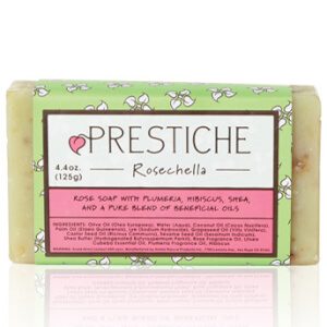 Prestiche Rosechella Essential Oil Bar Soap