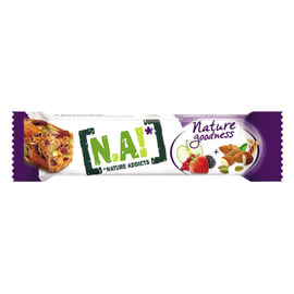Nature Addicts Barre Nature Goodness fruits rouges, pommes, amandes