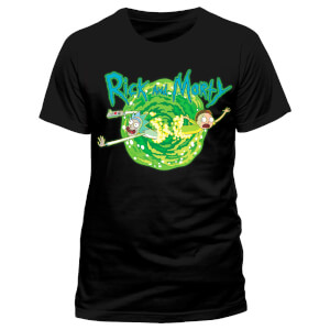 Rick and Morty Men's Black Portal T-Shirt - Black