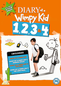 Diary Of A Wimpy Kid 1-4 Box Set