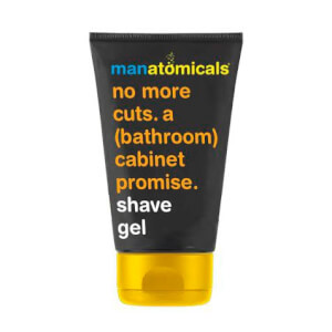 MANATOMICALS no more cuts. a (bathroom) cabinet promise. shave gel