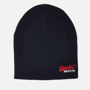 Superdry Men's Basic Embroidery Beanie - True Track Navy