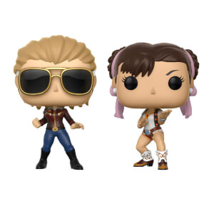 Pack 2 Figuras Pop! Vinyl Capitana Marvel vs. Capitana Chun-Li - Marvel vs Capcom