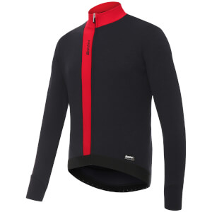 Santini Origine Winter Long Sleeve Jersey - Red