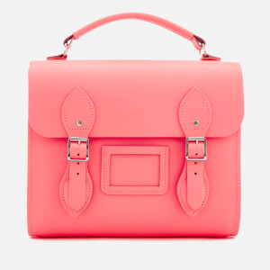 The Cambridge Satchel Company Women's Barrel Backpack - Neon Coral