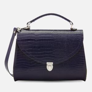 The Cambridge Satchel Company Women's Poppy Bag - Navy Croc Patent