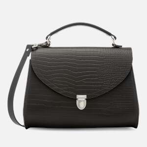 The Cambridge Satchel Company Women's Poppy Bag - Dark Brown Croc