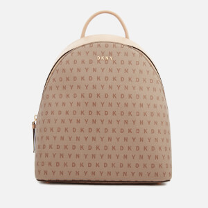 DKNY Women's Bryant Medium Backpack - Chino Logo
