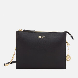 DKNY Women's Bryant Flat Top Zip Cross Body Bag - Black
