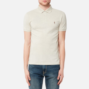 Polo Ralph Lauren Men's Short Sleeve Stretch Mesh Polo Shirt - New Sand Heather