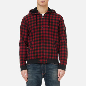 Polo Ralph Lauren Men's Check Hooded Jacket - Red/Black