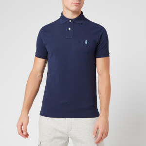 Polo Ralph Lauren Men's Slim Fit Short Sleeved Polo Shirt - Newport Navy