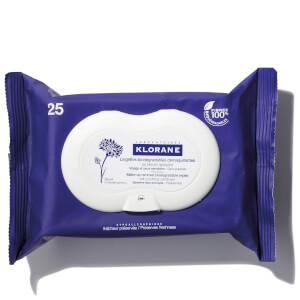 KLORANE Soothing Make-Up Removal Wipes with Cornflower (25 Wipes) - Biodegradable