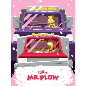 "Simpsons ""Mr Plow"" Variant Screenprint by Florey - Zavvi UK Exclusive"