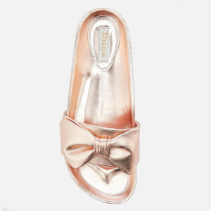 Dune Women's Fenela Leather Slide Sandals - Rose Gold: Image 3