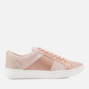 Dune Women's Egypt Leather Cupsole Trainers - Pink Metallic: Image 1