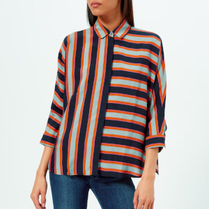BOSS Orange Women's Emaxi Blouse - Dark Blue