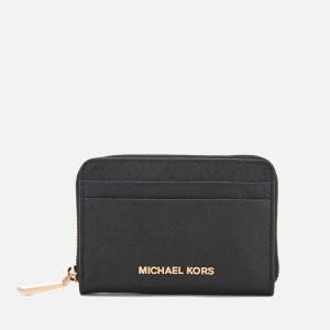 MICHAEL MICHAEL KORS Women's Money Pieces Zip Around Card Case - Black