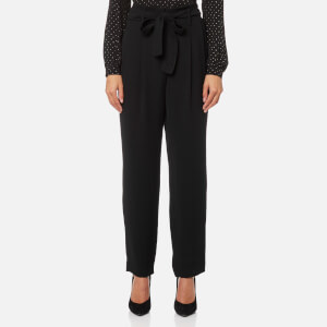 MICHAEL MICHAEL KORS Women's Carrot Shape Pleated Pants - Black