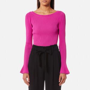 MICHAEL MICHAEL KORS Women's Boatneck Bell Sleeve Sweatshirt - Ultra Pink