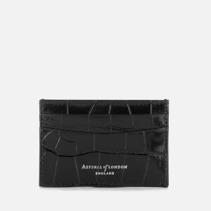 Aspinal of London Women's Slim Croc Credit Card Case - Black