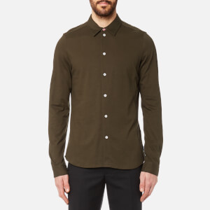 PS by Paul Smith Men's Slim Fit Long Sleeve Pique Shirt - Green