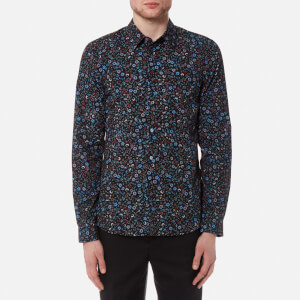 PS by Paul Smith Men's Tailored Fit Floral Shirt - Multi