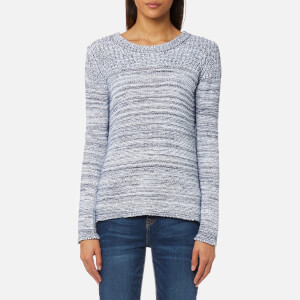 Barbour Women's Tayport Knit Jumper - Cloud/Navy