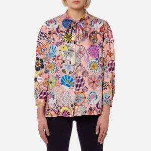 PS by Paul Smith Women's Enso Floral Blouse - Powder Pink