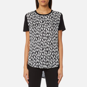 PS by Paul Smith Women's Cat Silk Front T-Shirt - Black