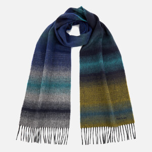 Paul Smith Men's Fade Stripe Scarf - Blue