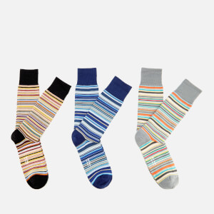 Paul Smith Men's Signature 3 Pack Stripe Socks - Multi