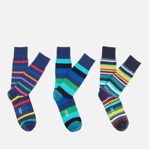 Paul Smith Men's 3 Pack Stripe Socks - Multi