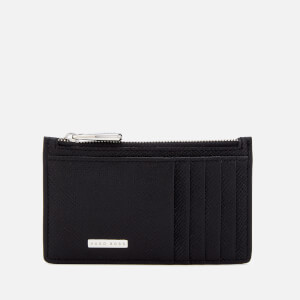 BOSS Black Men's Signature Card Case with Zip - Black