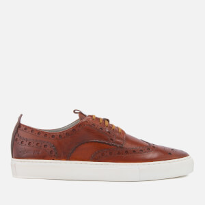 Grenson Men's Sneaker 3 Hand Painted Leather Trainers - Tan