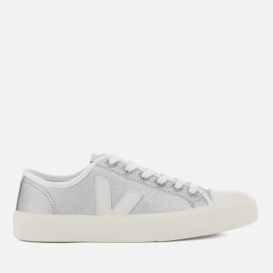 Veja Women's Wata Canvas Trainers - Silver/White